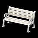 ガーデンベンチ白白