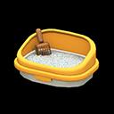 ネコのトイレ黄茶