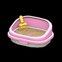 ネコのトイレピンク黄