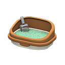 ネコのトイレ茶グレー