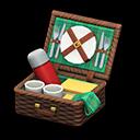 ピクニックバスケット茶緑