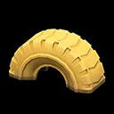 タイヤのゆうぐ黄黄