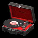 ポータブルレコードプレーヤー黒赤