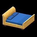 ラタンのベッド青黄