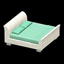 ラタンのベッド水白