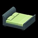 ラタンのベッド緑青