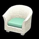 ラタンのソファ水白