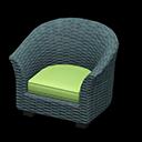 ラタンのソファ緑青