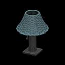 ラタンのテーブルランプ青黒