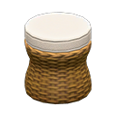 ラタンのスツール白茶