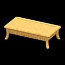 ラタンのローテーブル黄黄