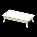 ラタンのローテーブル白白