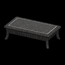 ラタンのローテーブル黒黒