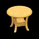 ラタンのサイドテーブル黄黄