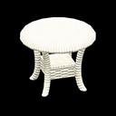 ラタンのサイドテーブル白白