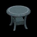 ラタンのサイドテーブル青青