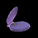 かいがらのベッド紫紫