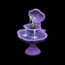 かいがらのふんすい紫紫