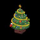 おおきなクリスマスツリー緑カラフル