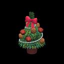 テーブルクリスマスツリー緑赤