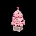 かわいいクリスマスツリーピンク赤