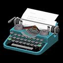 タイプライター青グレー