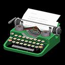 タイプライター緑グレー