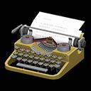 タイプライター黄グレー