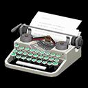 タイプライター白水