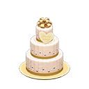 ウェディングケーキ白黄