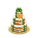 ウェディングケーキ茶緑