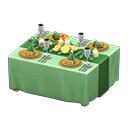ウェディングなテーブル緑黄