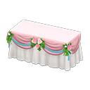 ウェディングなメインテーブルピンク白