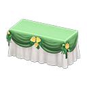 ウェディングなメインテーブル緑白