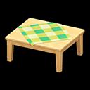 もくせいテーブルベージュ緑