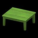 もくせいテーブル緑緑