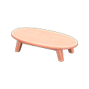 もくせいローテーブルピンクピンク