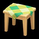 もくせいミニテーブルベージュ緑
