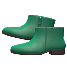レザーのショートブーツ緑緑