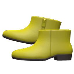 レザーのショートブーツ黄黄