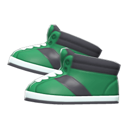 ハイカットスニーカー緑黒