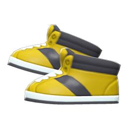 ハイカットスニーカー黄黒