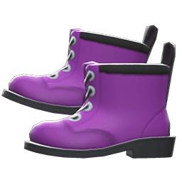 ワークブーツ紫黒
