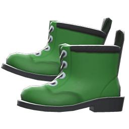 ワークブーツ緑黒