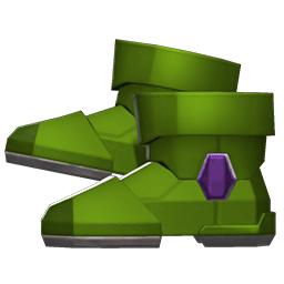 パワードブーツ緑紫