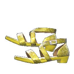 ダンスシューズ黄黄