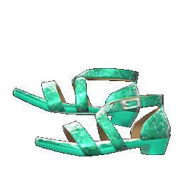 ダンスシューズ緑緑