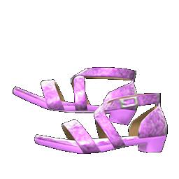 ダンスシューズ紫紫