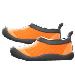 マリンシューズオレンジ黒
