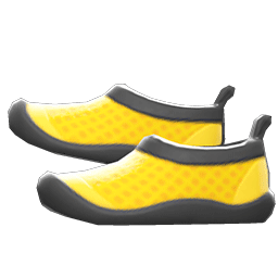 マリンシューズ黄黒